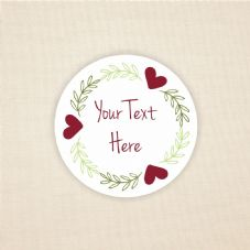 Floral Sticker Design - Add Your Own Text